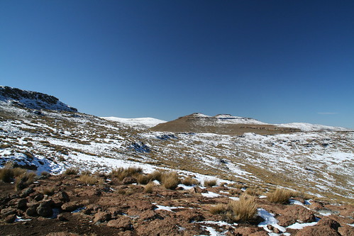 View of highest point in Lesotho