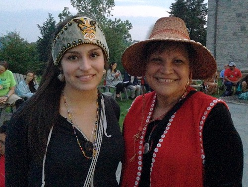 Sierra Ezrre, Tlingit high school student from Juneau, Alaska, and Carrie Sykes, Haida Cultural Educator from Kasaan, Alaska