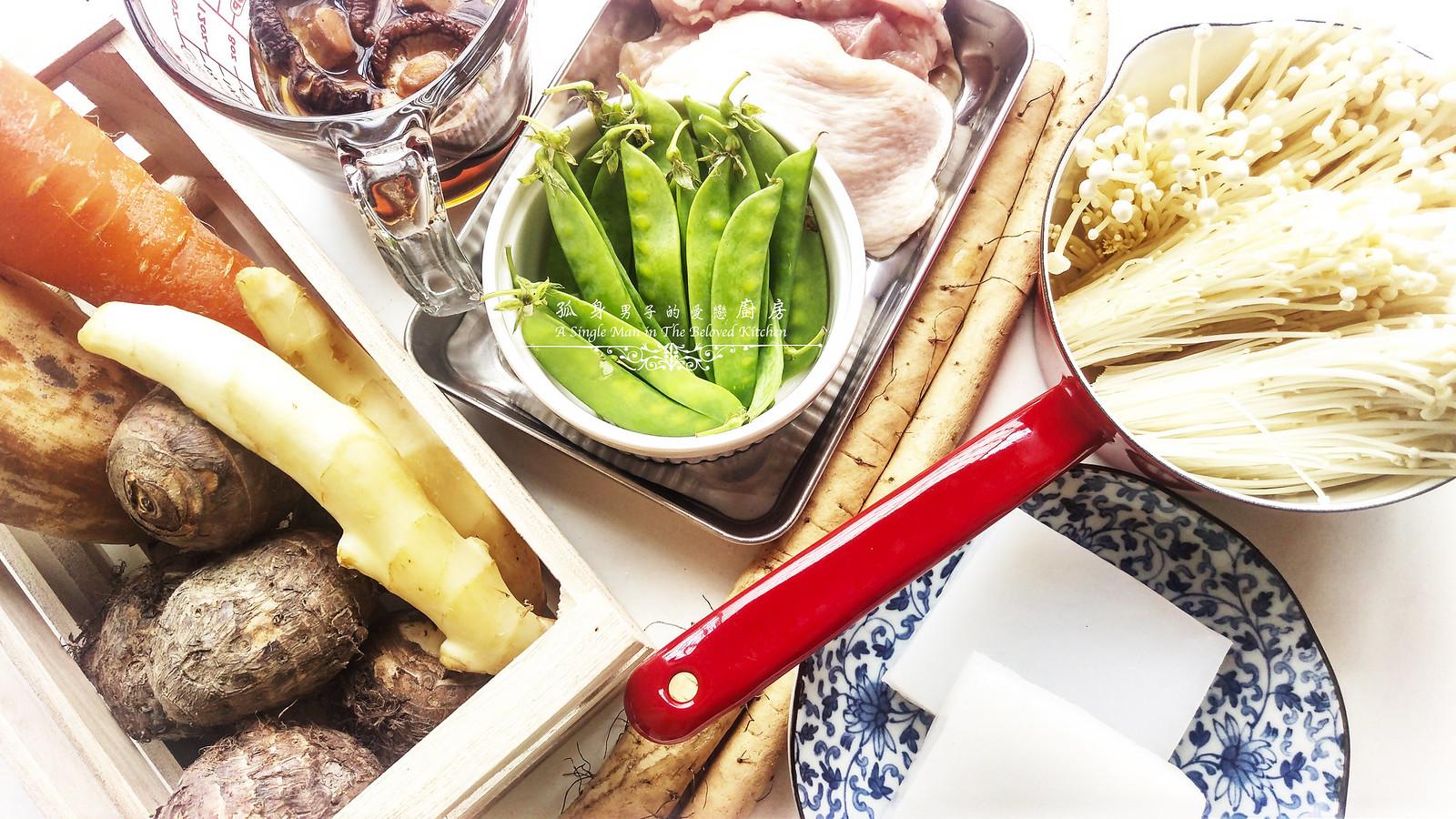 孤身廚房-食譜書《常備菜》試作——筑前煮、醬煮金針菇。甜滋滋溫暖和風味3