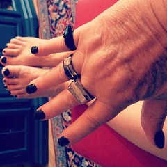 #black is #cool #nails #nailart taking a day for #feelinggood ... But I do every day :wink: