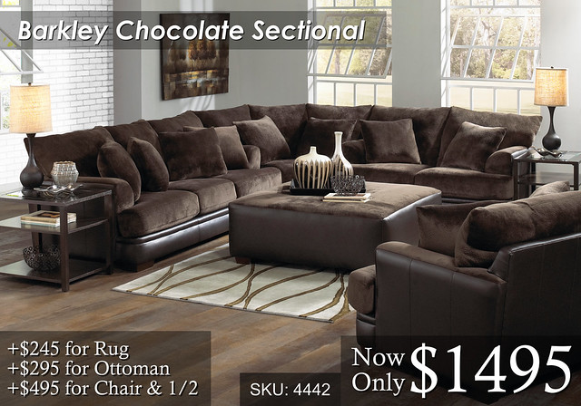 Barkley Chocolate Sectional