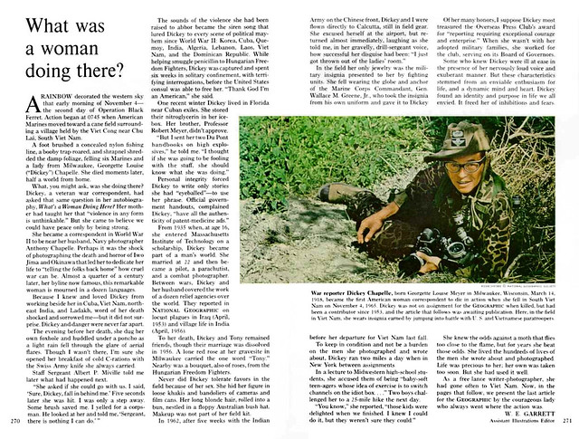 NATIONAL GEOGRAPHIC February 1966 (2) - What was a woman doing there?