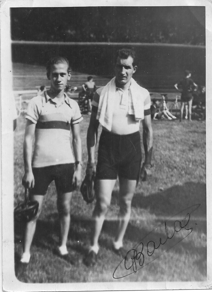 Salvatore Scimone con Gino Bartali (foto inviata dal figlio Gianni.