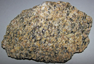Granite (Silver Plume Granite, Mesoproterozoic, 1.42 Ga; Rt. 36 roadcut, Larimer County, Colorado, USA) 1