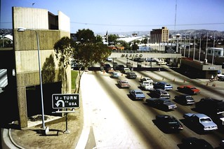 US Mexican border at Tijuana 1985