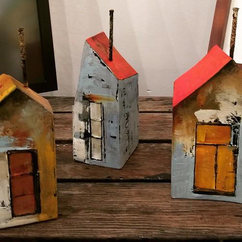 "Joanna Drummond's new ceramic ""Bunkies"" #southshoregallery #sookebc #artgallery #art #ceramics #tabletop"