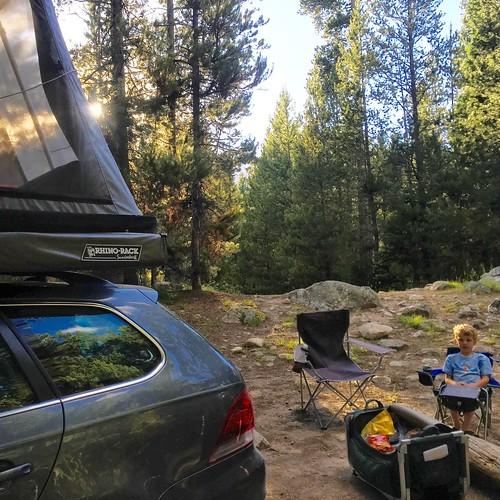 Grand Teton NP campsite