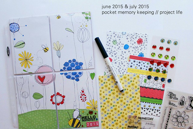 june & july 2015 pocket memory keeping // project life
