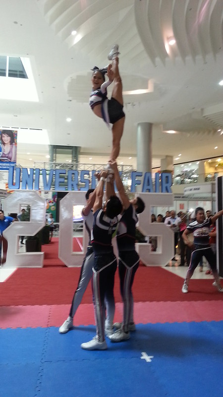 Davao Photos: National University (NU) Pep Squad at SM Davao's University Fair 2015 - DavaoLife.com 20150709_114452