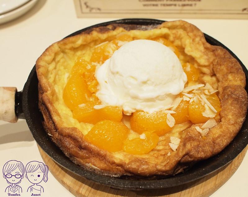 29 冰果甜心 香橙乳酪+香草冰淇淋 鑄鐵鍋鬆餅