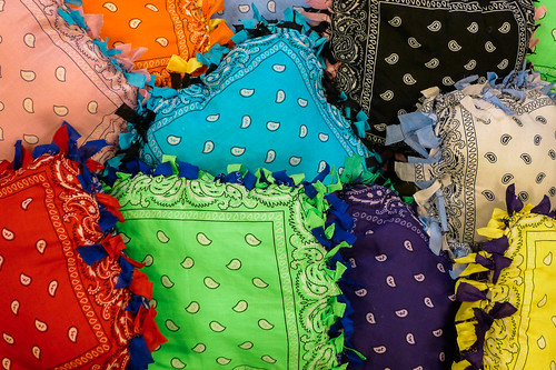 Bandana pillows.