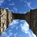 Looking up at the Aqueduct of Segovia by J-a-x