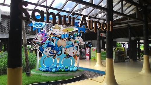 今日のサムイ島 8月1日 サムイ空港でシムカード買えます