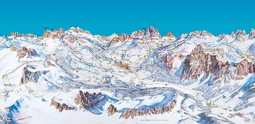Cortina d'Ampezzo - mapa sjezdovek