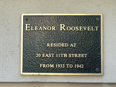 Photo of Eleanor Roosevelt black plaque