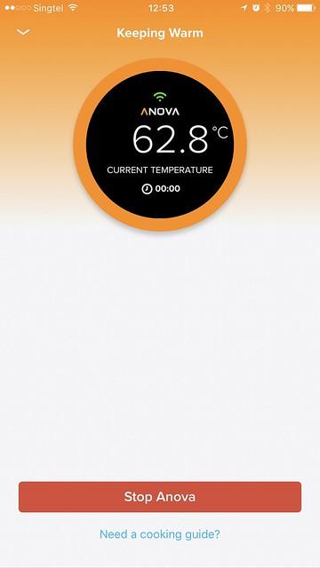 Anova Wi-Fi iOS App - Keep Warm