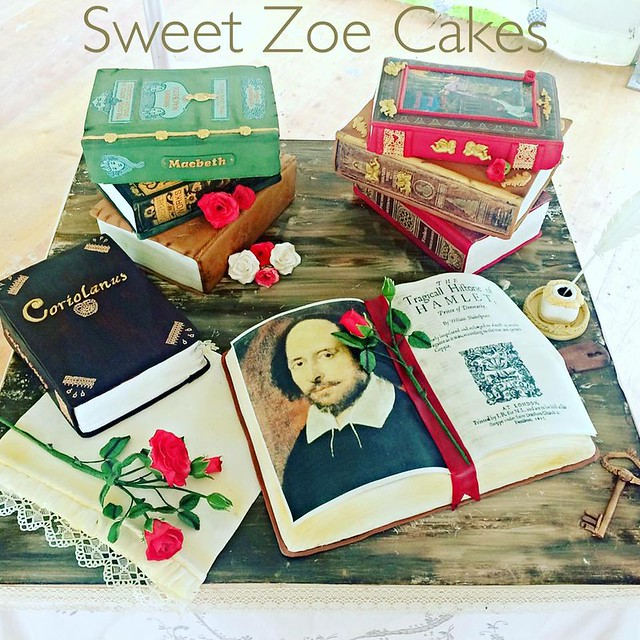 Shakespeare's Cake by Dimitra Milona of Sweet Zoe Cakes