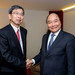 President Nakao meets leaders at World Economic Forum
