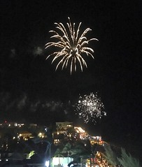 Overseas Adventure Travel', 'Route of the Mayas', fireworks, hotel roof, New Year's Eve, Radisson  Fort George Hotel