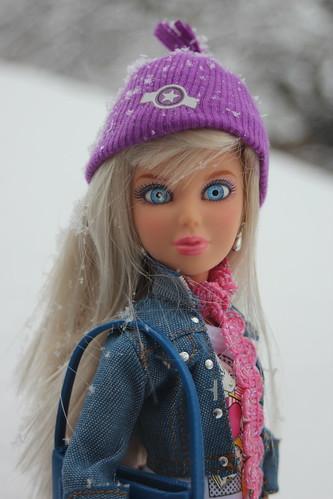 Liv Sophie enjoys our recent snow