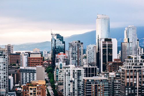 Vancouver from a Yaletown rooftop