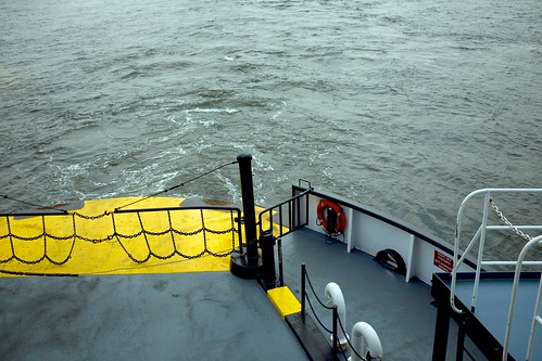View from the back of the Ferry