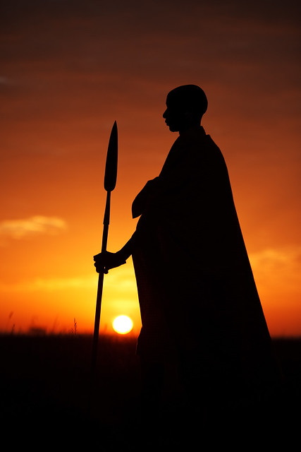 Maasai at Sunrise