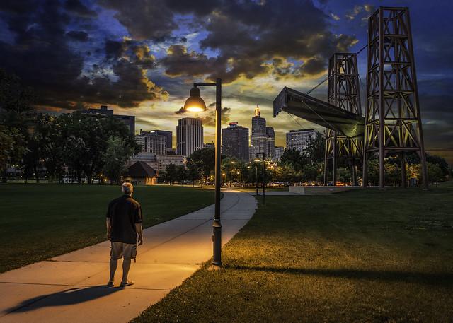 saint paul minnesota downtown sunset