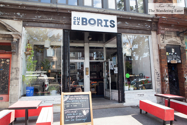 Exterior of Chez Boris