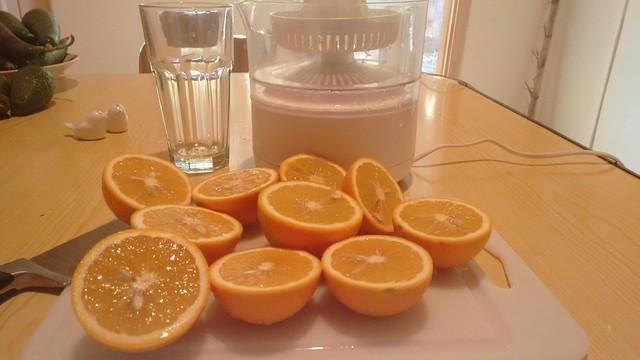 Valle de Elqui, Chile: Making Orange Juice