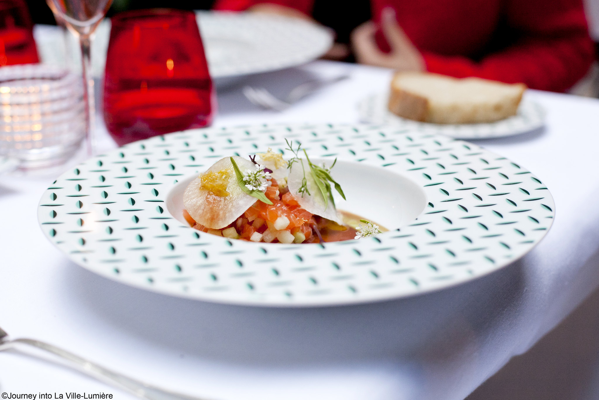 Dinner at La Cour Jardin, Plaza Athénée