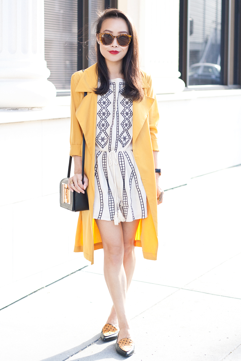 04-mustard-trench-romper-loafers-fashion-style-sf-sanfrancisco