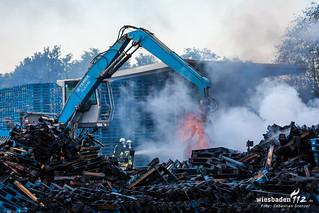 Großbrand Biebesheim 19.07.2015