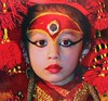 "NEPAL , Kathmandu, Kumari , ""lebende Göttin"", (Postcard) 15036/7665"