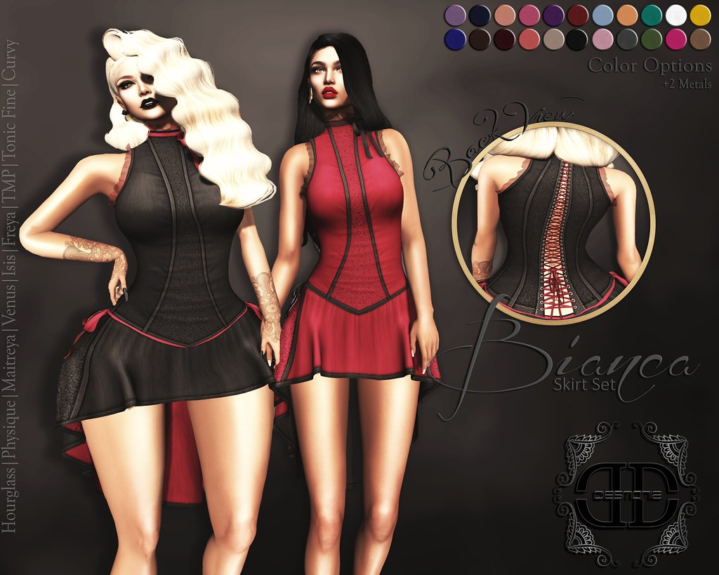 Bianca Skirt Set Fatpack - SecondLifeHub.com