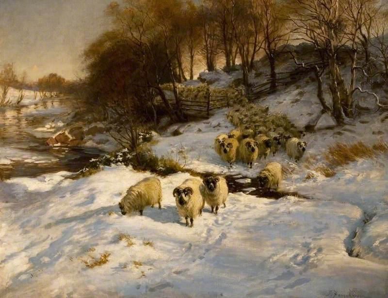 Sheep in the Snow by Joseph Farquharson