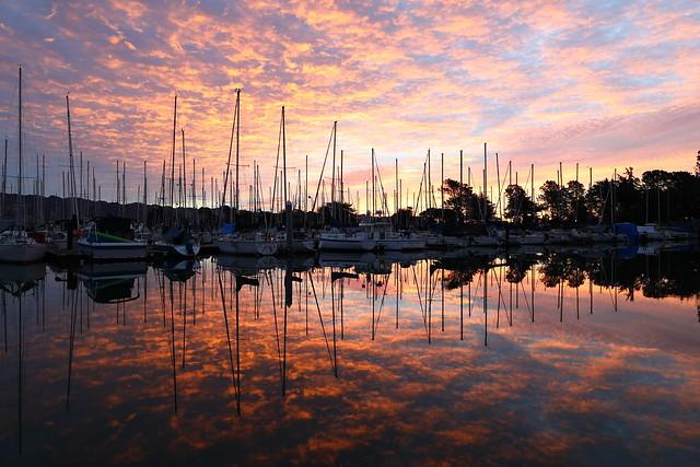 Berkeley marina sunrise