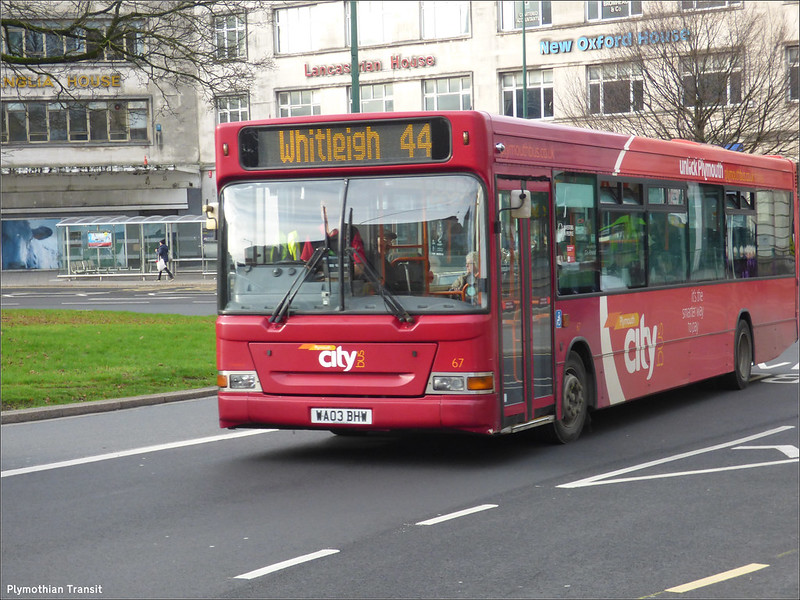 Plymouth Citybus 067 WA03BHW