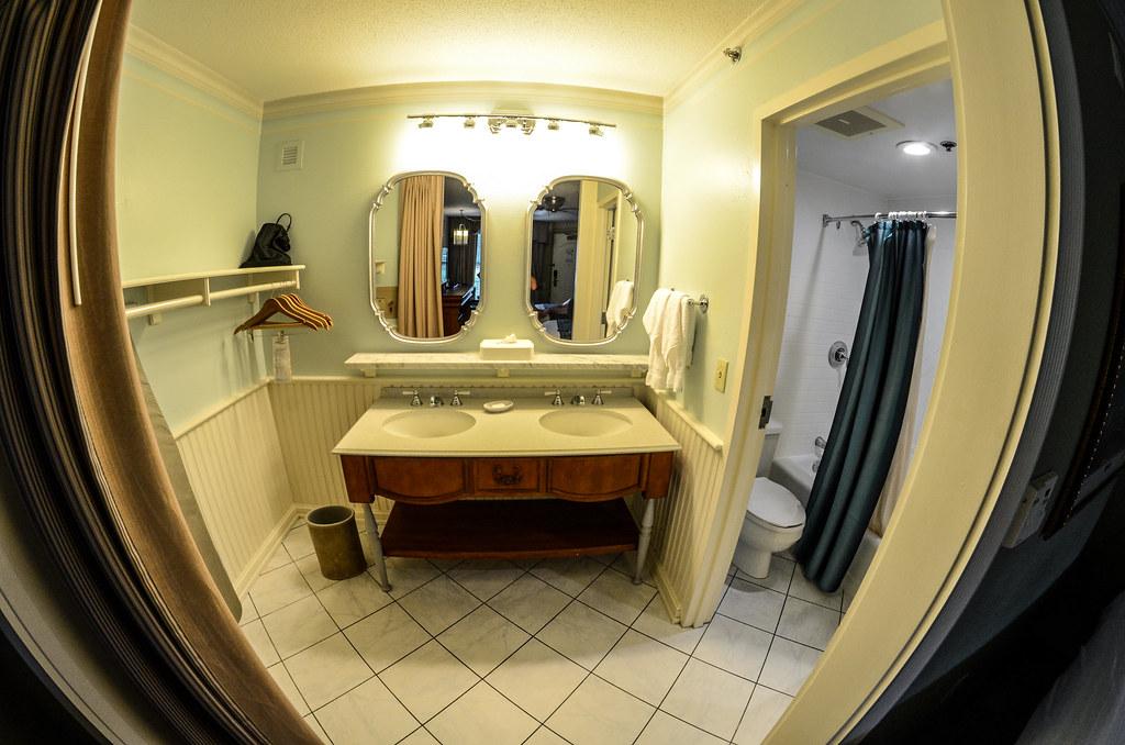 Port Orleans sink and bathroom