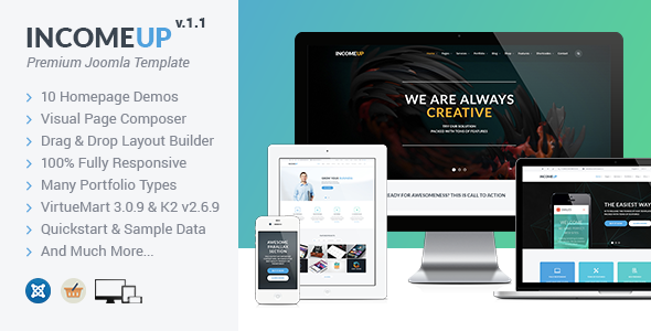 IncomeUp v1.2 – Multipurpose Business Joomla Template