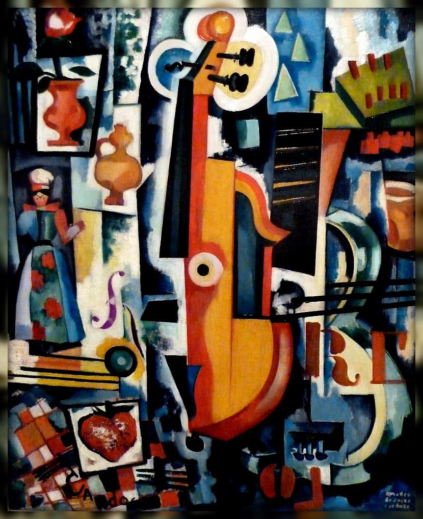 23.- Trou de la Serrure (Parto da viola), 1916. Óleo sobre tela, Coleção Museu Caloustre Gulbenkian (Coleção moderna)