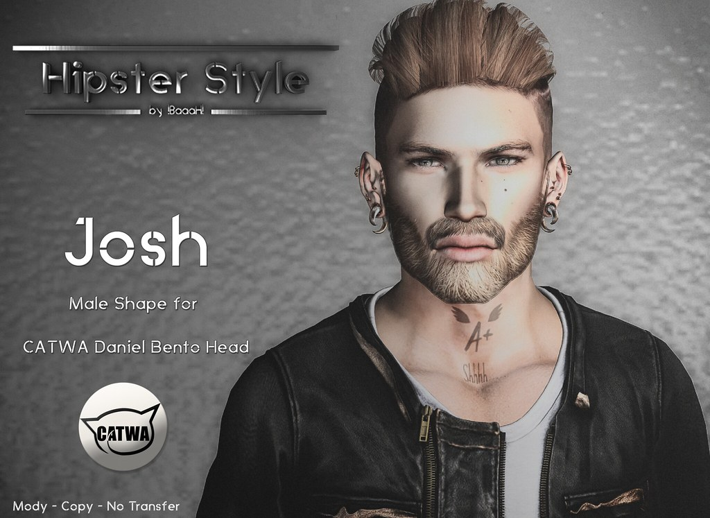 [Hipster Style] Josh Male Shape for CATWA Daniel Bento Head - SecondLifeHub.com