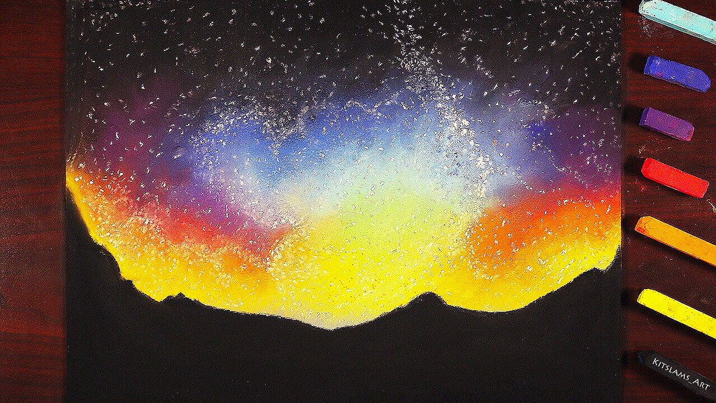 Night Sky Soft Pastel Drawing Watch The Video Youtu Be U6 Flickr
