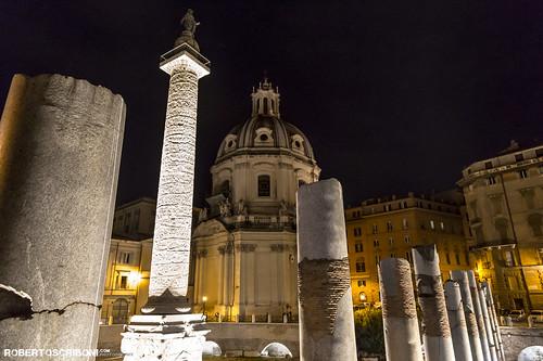 Night roman skyline