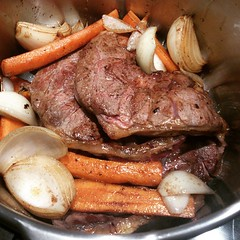 Getting the braise shin on for the charity dinner this weekend