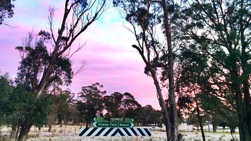 Kangaroo Valley ride - frosty morning at Wildes Meadow Road / Avoca