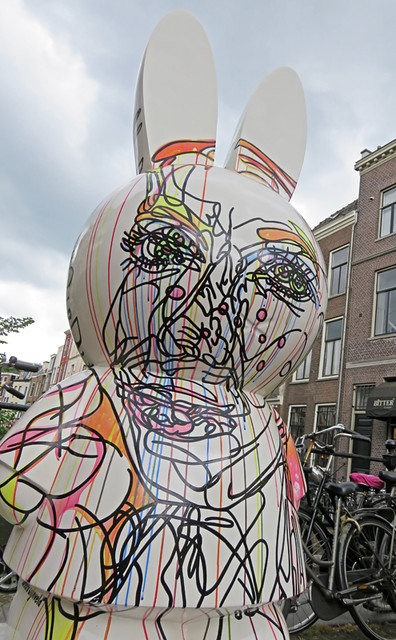 A sculpture of Miffy the Rabbit, symbol of Utrecht