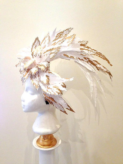 Curl Paper Feather Hat