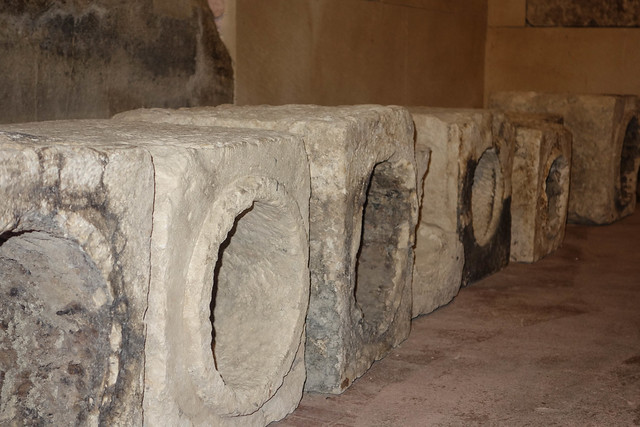 Ancient sewer pipes in the Diocletian's Palace