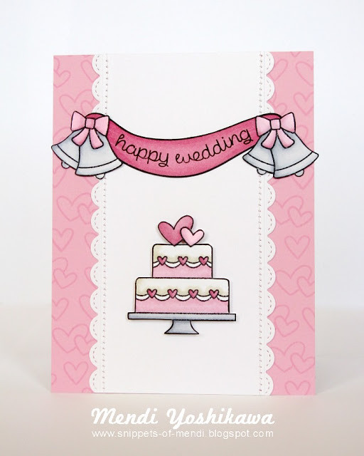 Lawn Fawn Happy Wedding Card-Mendi1